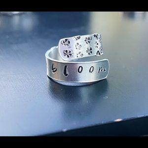 Handmade floral ring